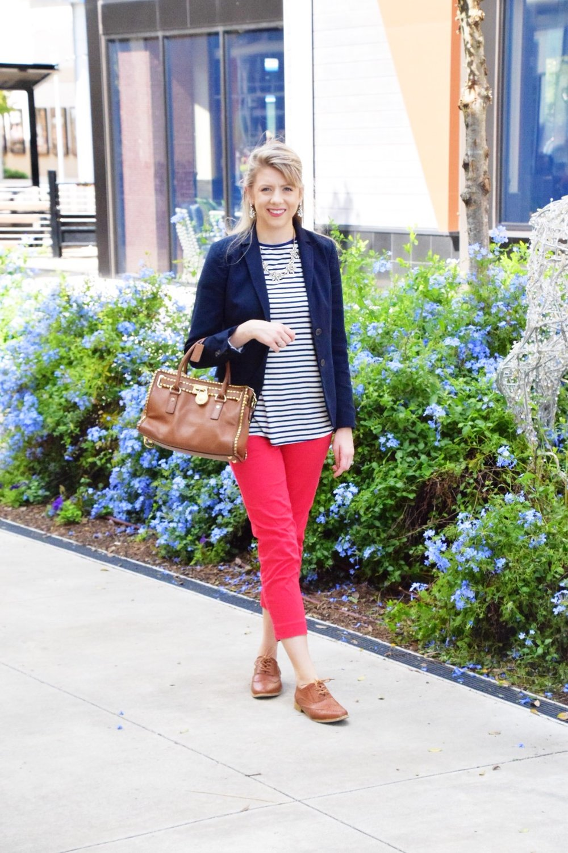 Houston Fashion Blogger - Wander Dust Blog - Navy Striped Shirt (6).JPG