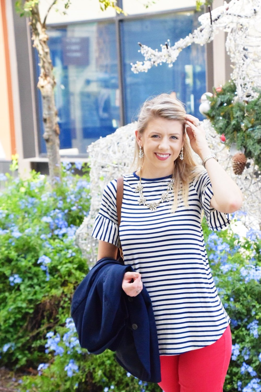 Houston Fashion Blogger - Wander Dust Blog - Navy Striped Shirt (3).JPG