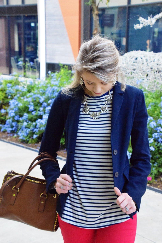 Houston Fashion Blogger - Wander Dust Blog - Navy Striped Shirt (9).JPG