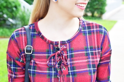 Houston Fashion Blogger - Shop PinkBlush - Plaid Shirt (1).JPG