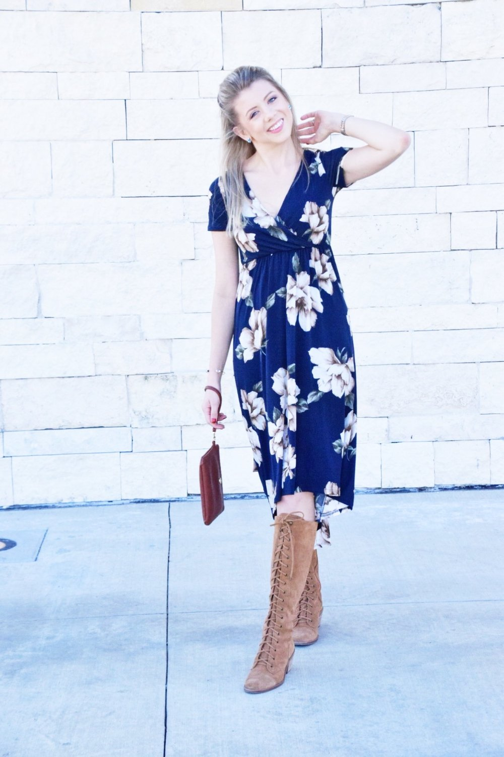 Shop PinkBlush Giveaway -Navy Floral Hi-Low Midi Wrap Dress - Houston Fashion Blogger (6).JPG