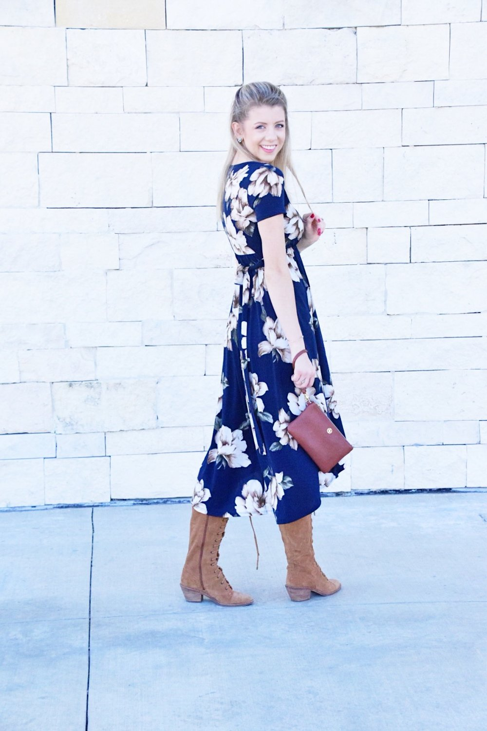 Shop PinkBlush Giveaway -Navy Floral Hi-Low Midi Wrap Dress - Houston Fashion Blogger (7).JPG