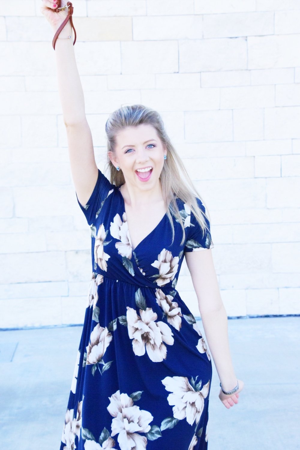 Shop PinkBlush Giveaway -Navy Floral Hi-Low Midi Wrap Dress - Houston Fashion Blogger (2).JPG