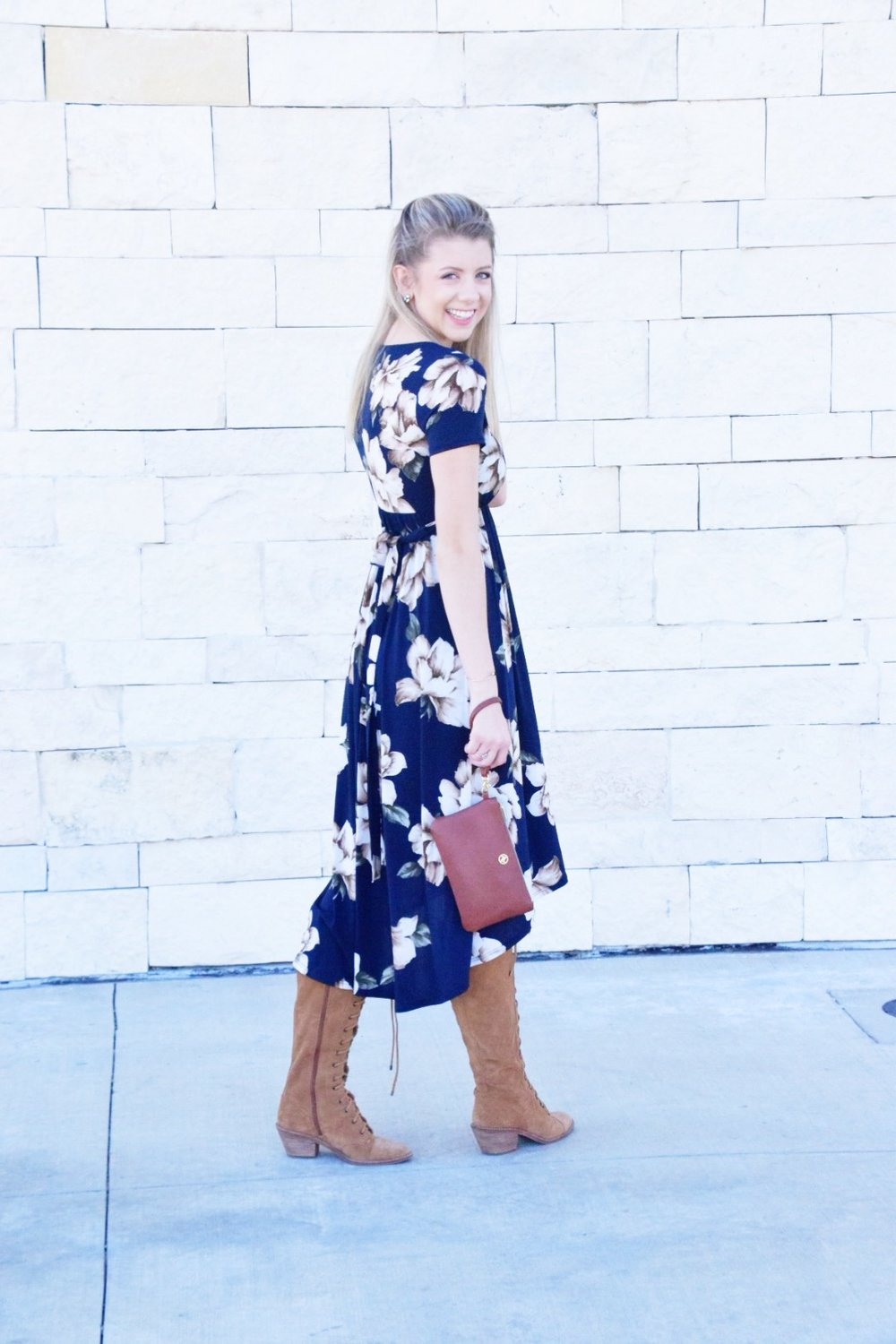 Shop PinkBlush Giveaway -Navy Floral Hi-Low Midi Wrap Dress - Houston Fashion Blogger (10).JPG