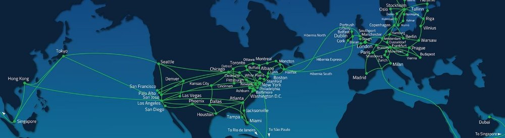 Hibernia Networks Global Route Map