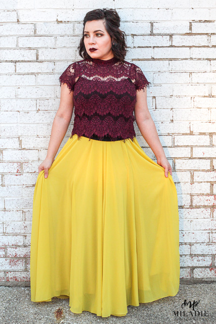 Amelia Full Yellow Maxi Skirt |  buy