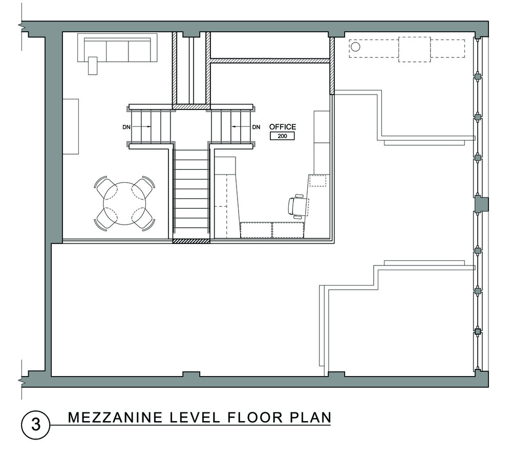 Geary street de meza architecture for Mezzanine floor plan