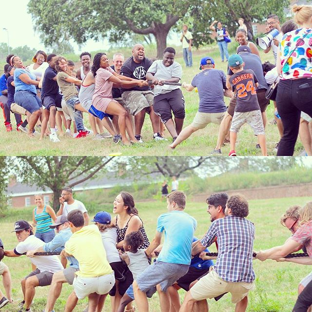 """Throwing it back to last Saturday when members of our church gathered on Governors Island for the All-Parish Picnic. We had so much fun and our @tgccrownheights parish brought back the """"W"""" for their victory in tug-o-war! #allparishpicnic #tbt"""
