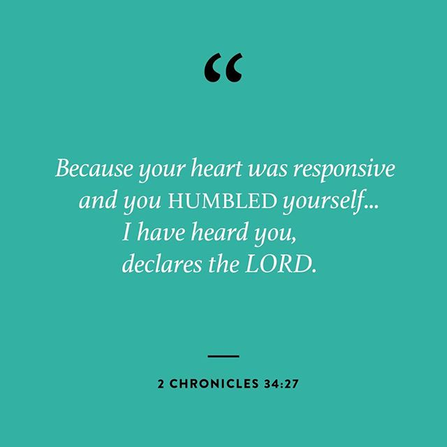 How has your heart responded to the truth God has awakened in you? Today's reading in our Revive Us Again series comes from 2 Chronicles 34:1-33, where we learn of the humility displayed by the young King Josiah in the way he called his people to faithfulness in response to the word of God.  Pause with us this morning to consider the posture of your heart. We are not interested in being a people known for pure behavior modification. We are seeking transformed hearts. Is your heart hard and unyielding or have you moved in obedience toward the call of God? #reviveusagain