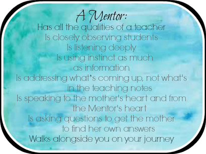Costa Mesa birth classes mentor role