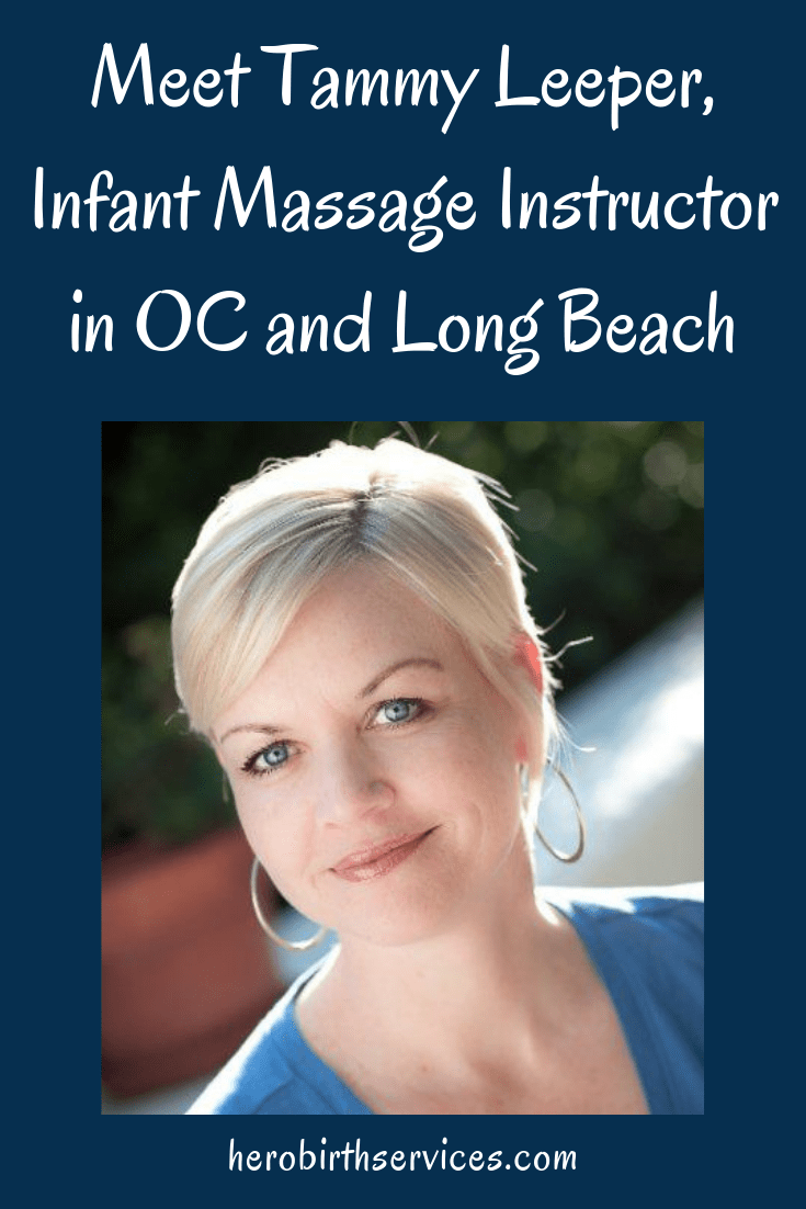 Long Beach doula Tammy Leeper Infant Massage