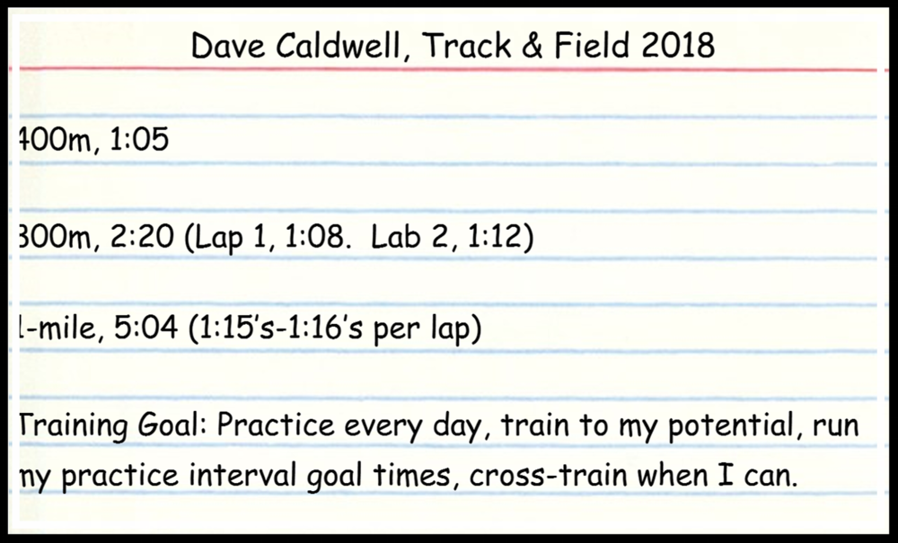 An example of Coach Dave's goals.