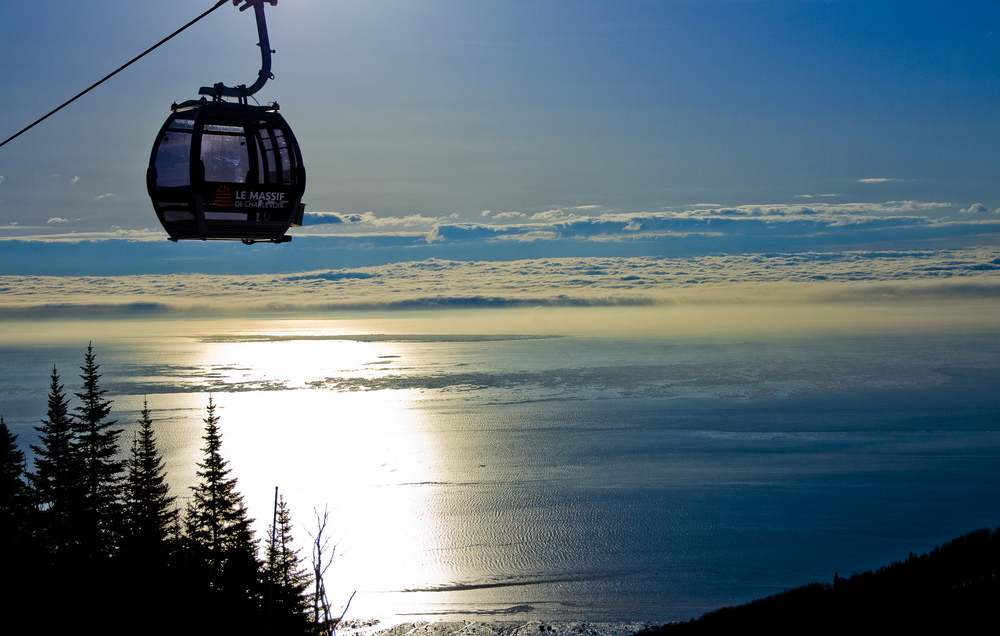 There are very few gondola rides as scenic as the one at LeMassif, QC