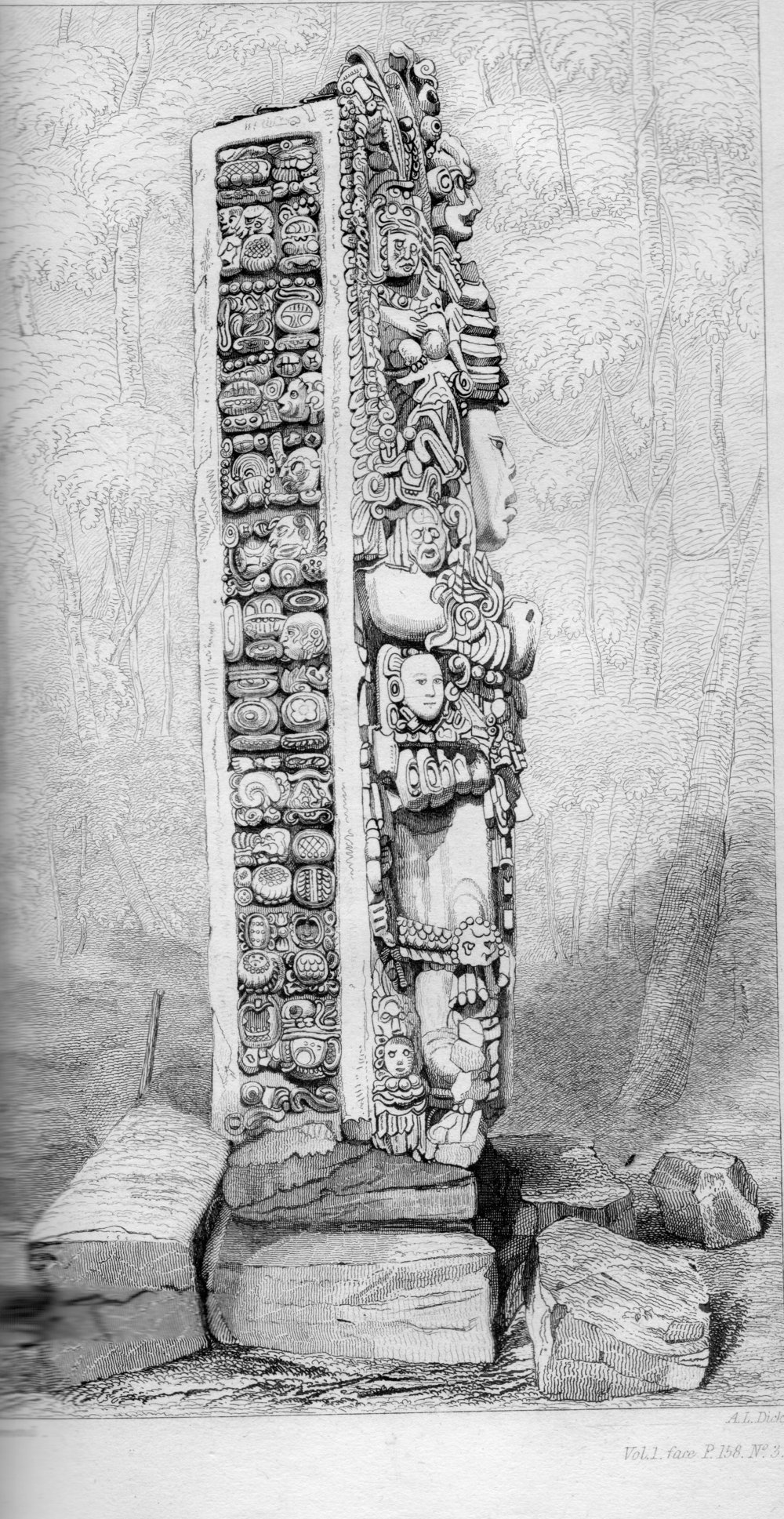 Catherwood's illustration at Copan