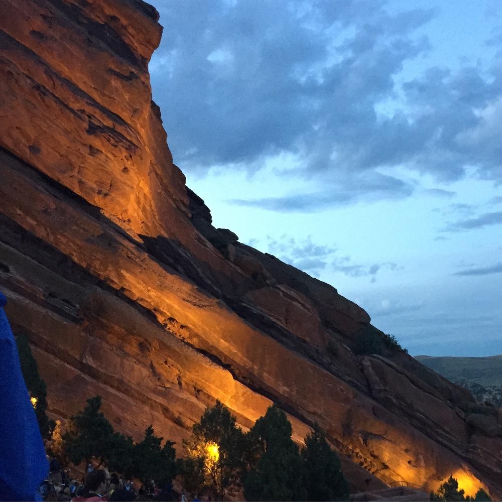 Red Rocks at Night
