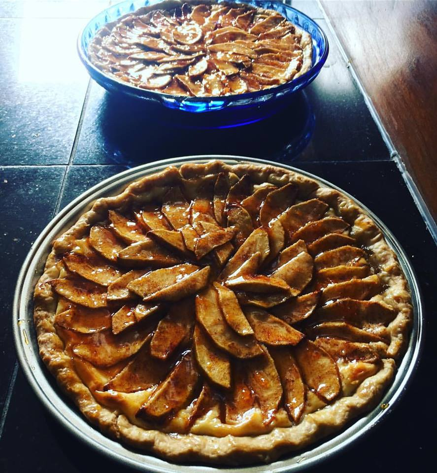 Double the recipe to make two Apple Almond Cream Cheese Tarts.