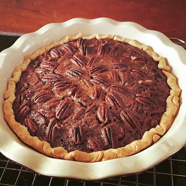 Bourbon Chocolate Pecan Pie. A tried and true Thanksgiving favorite. Recipe on Charnopia.com