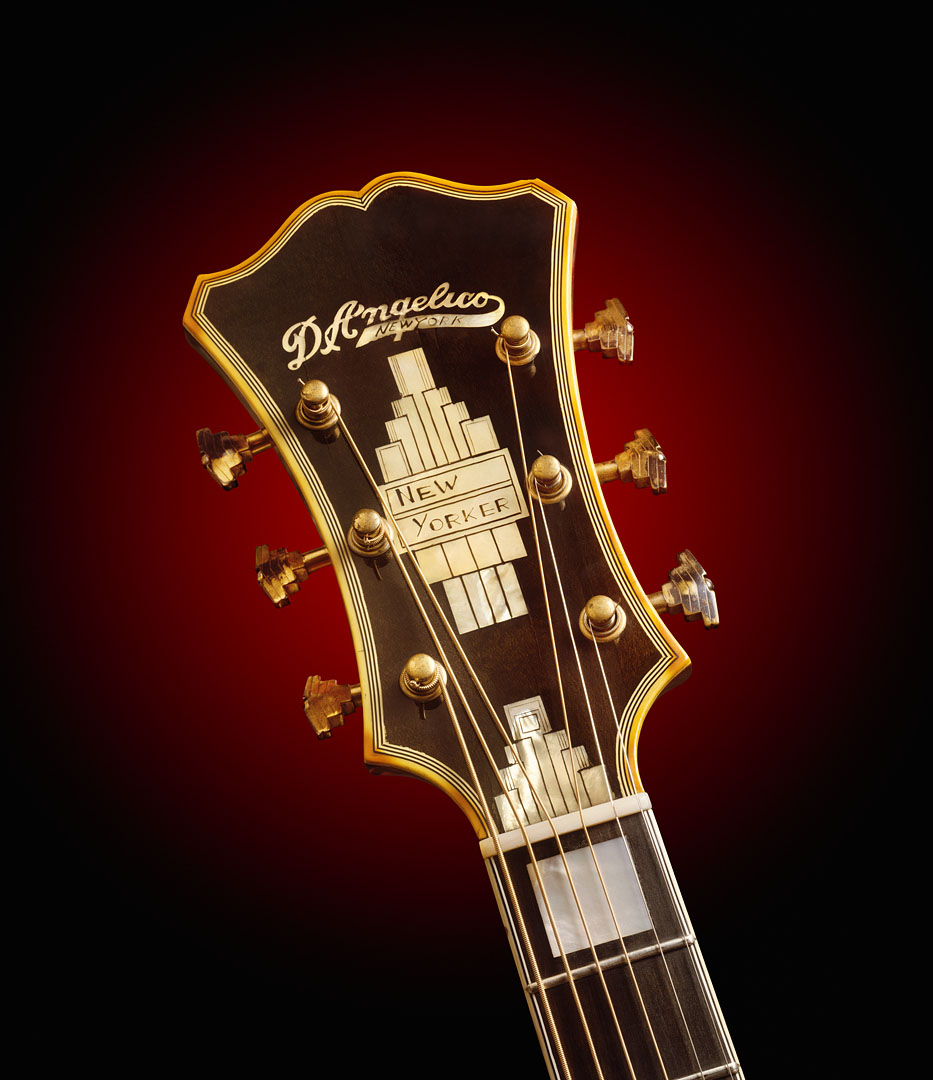 D'angelico New Yorker Headstock Detail
