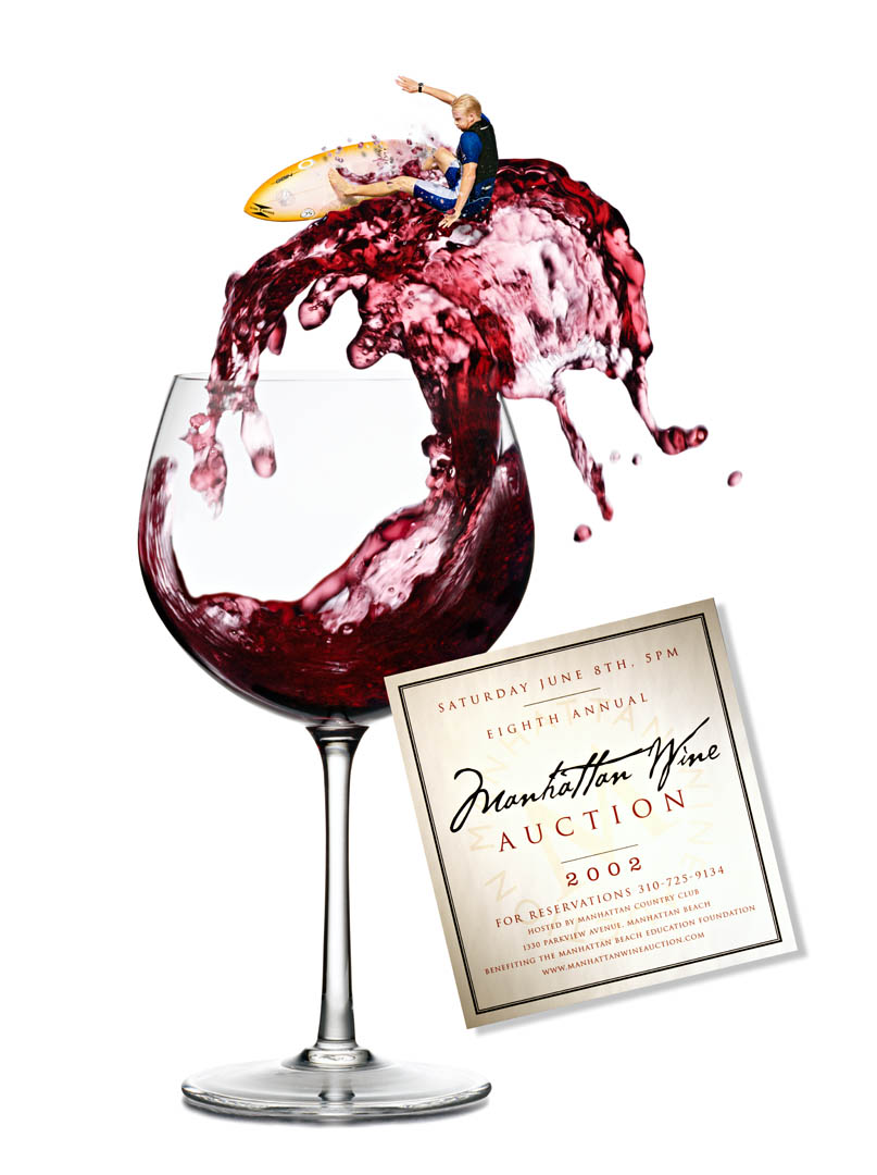 Manhattan Beach Wine Auction Poster 2002
