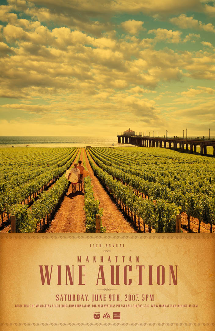 Manhattan Beach Wine Auction Poster 2007