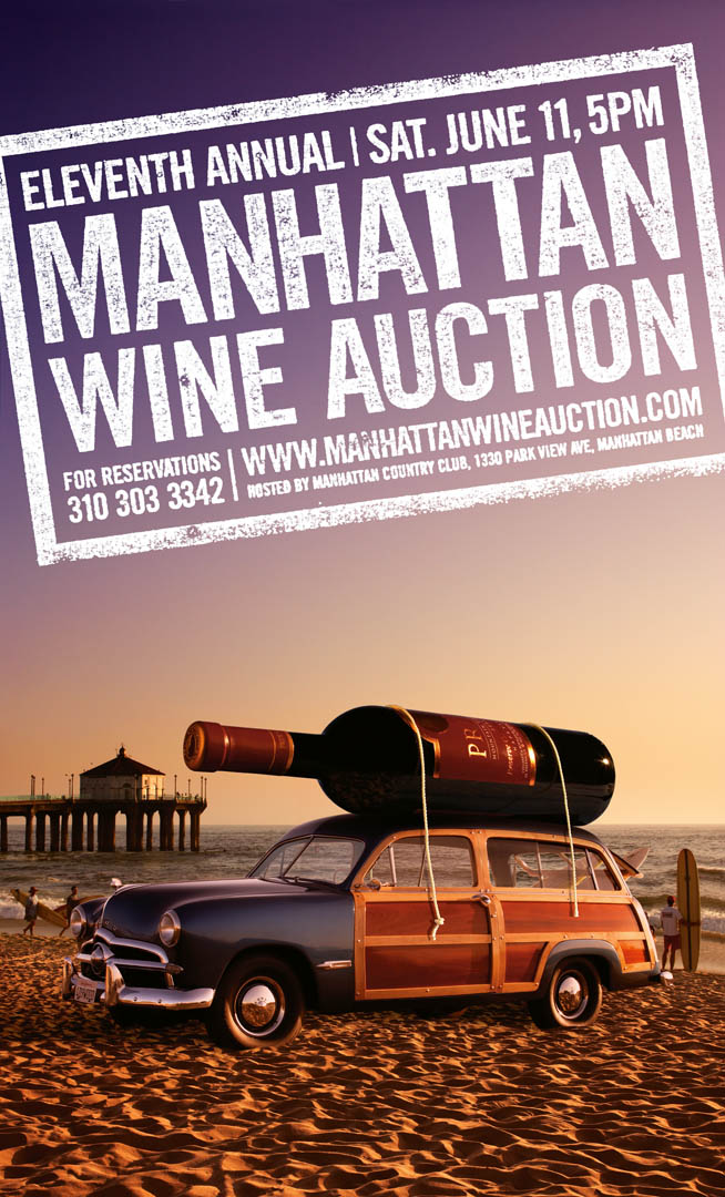 Manhattan Beach Wine Auction Poster