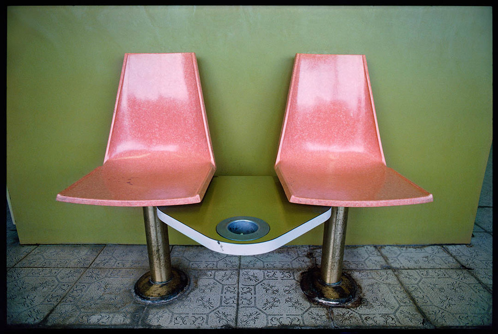 Plastic Chairs with ash tray