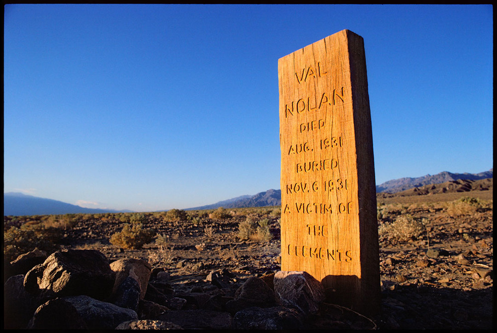 Val Nolan's Grave Site, Death Valley, Ca.