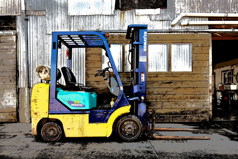 Forklift, Commercial Wharf, Monterey, Ca.