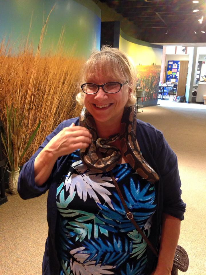 Mr. Dan even got my Mom to hold a snake!