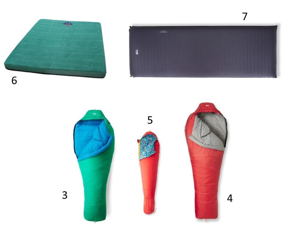 camping sleeping gear