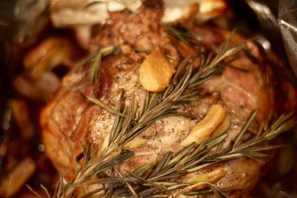 Slow Cooker Leg of Lamb - With Red Wine & Garlic