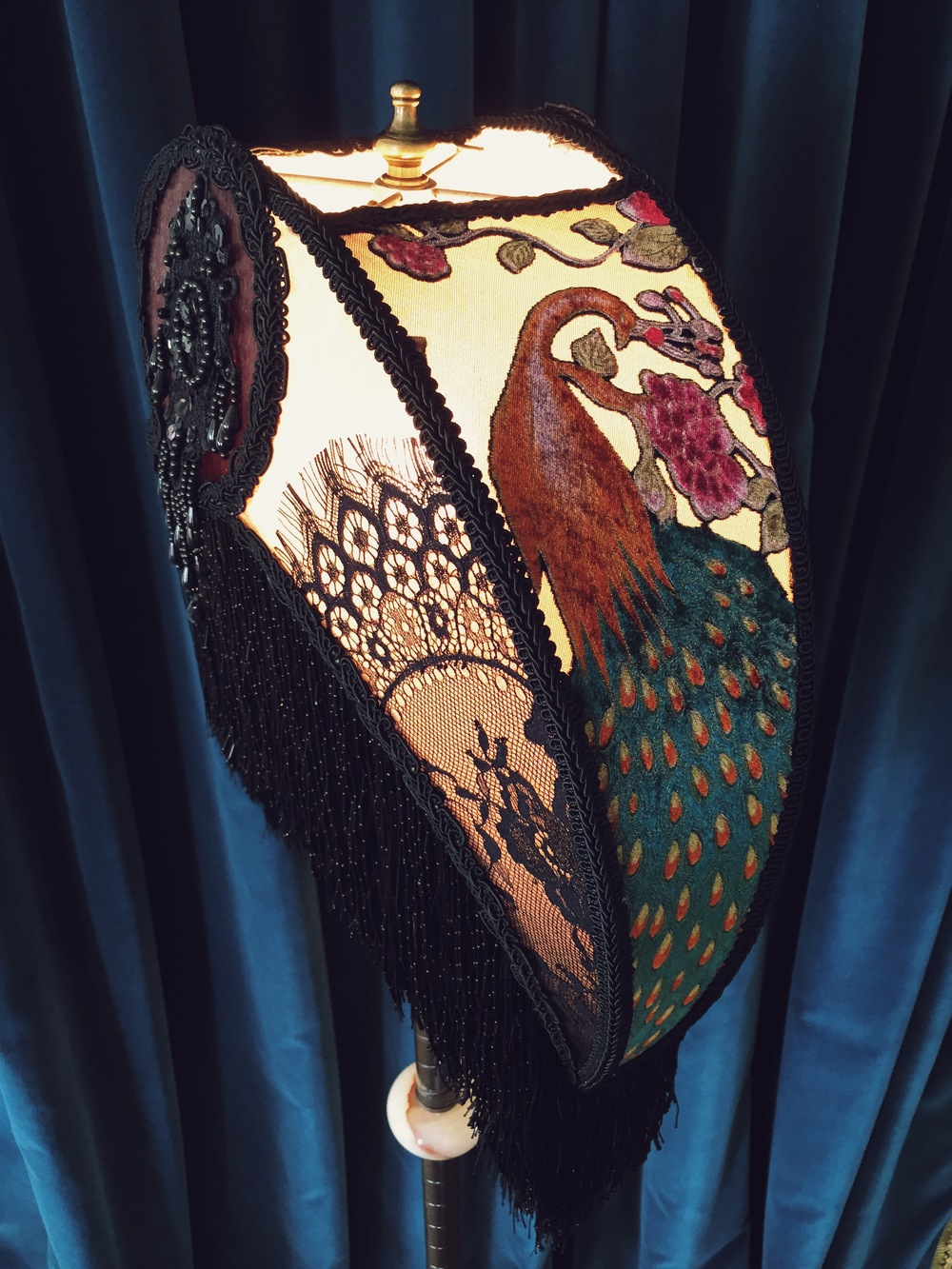 peacock victorian lampshade 8.JPG