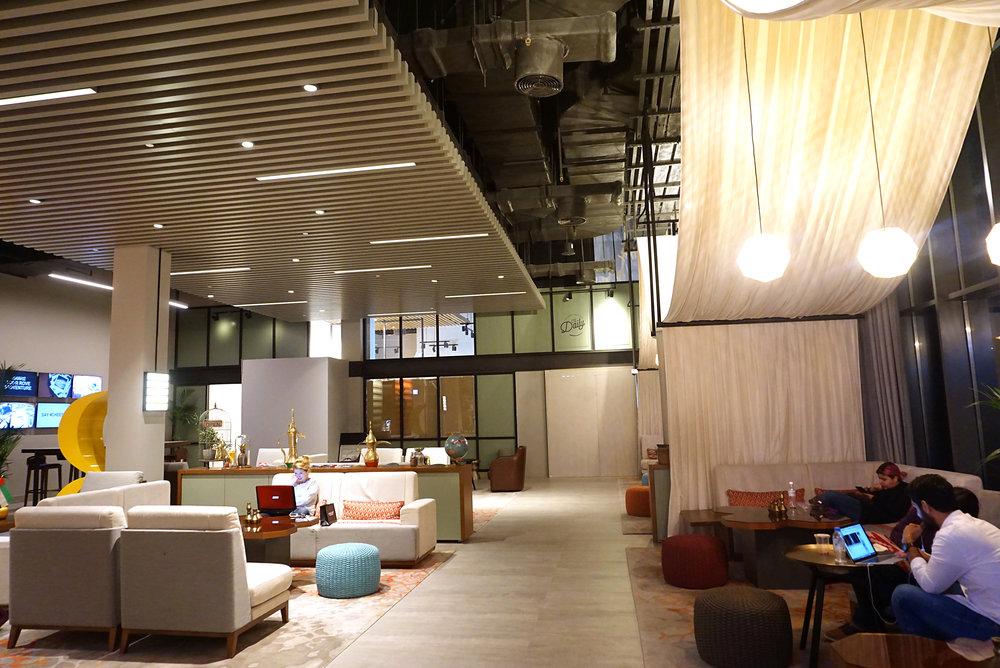Rove Hotel's lobby.