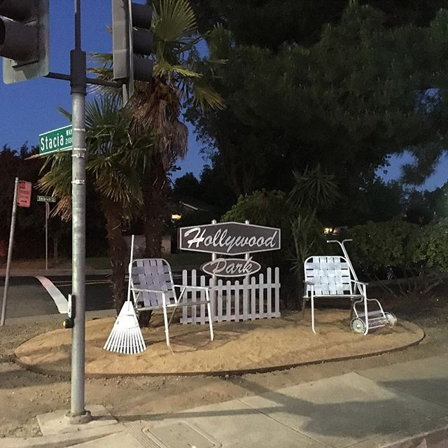 Welcome to Hollywood! Public Art on Freeport Blvd by Urban Fabricated