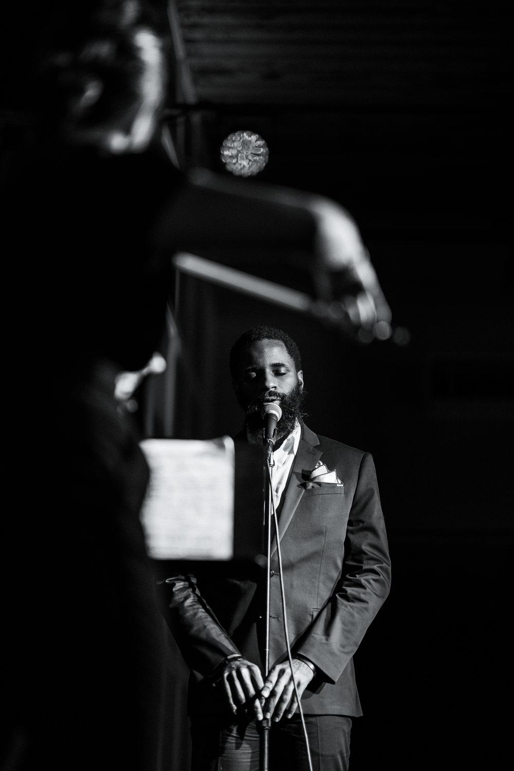 Harold Green, spoken word artist. Performing with us at the Promontory.