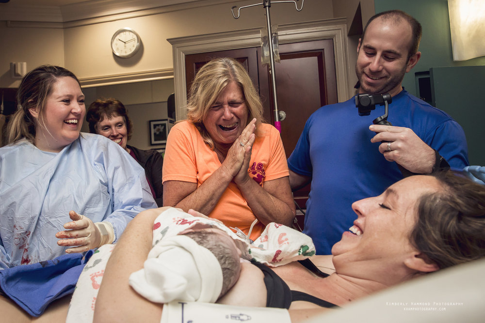 Grandma meets grandson for the first time after birth at Harris Methodist in Downtown Fort Worth, TX.
