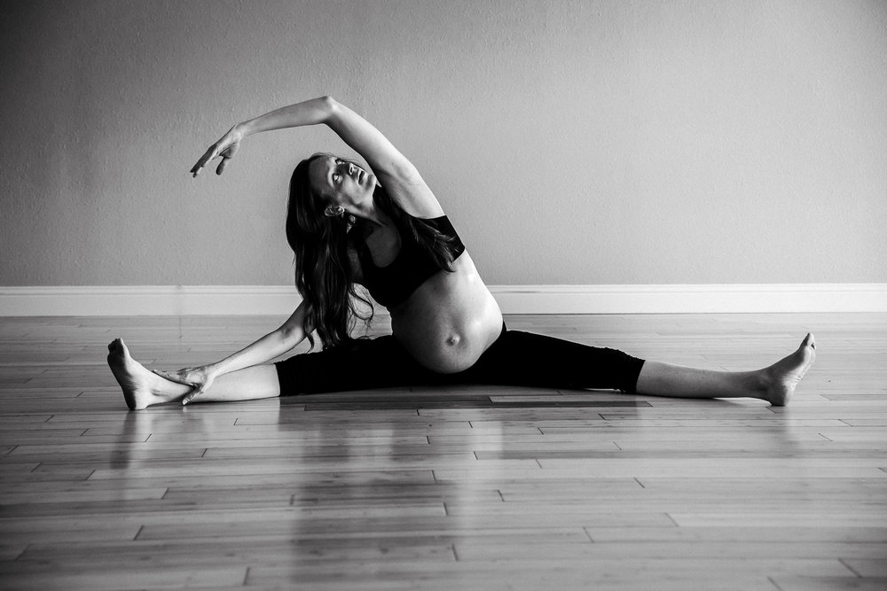 Yoga Maternity Photography Fort Worth Texas