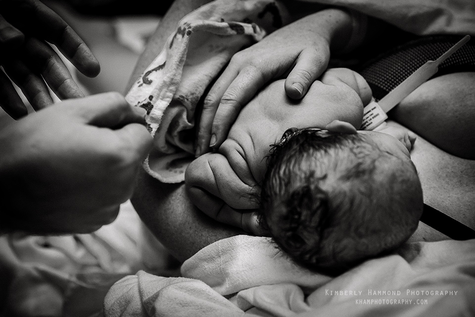 Sweet baby back rolls during natural hospital birth in Grapevine TX.