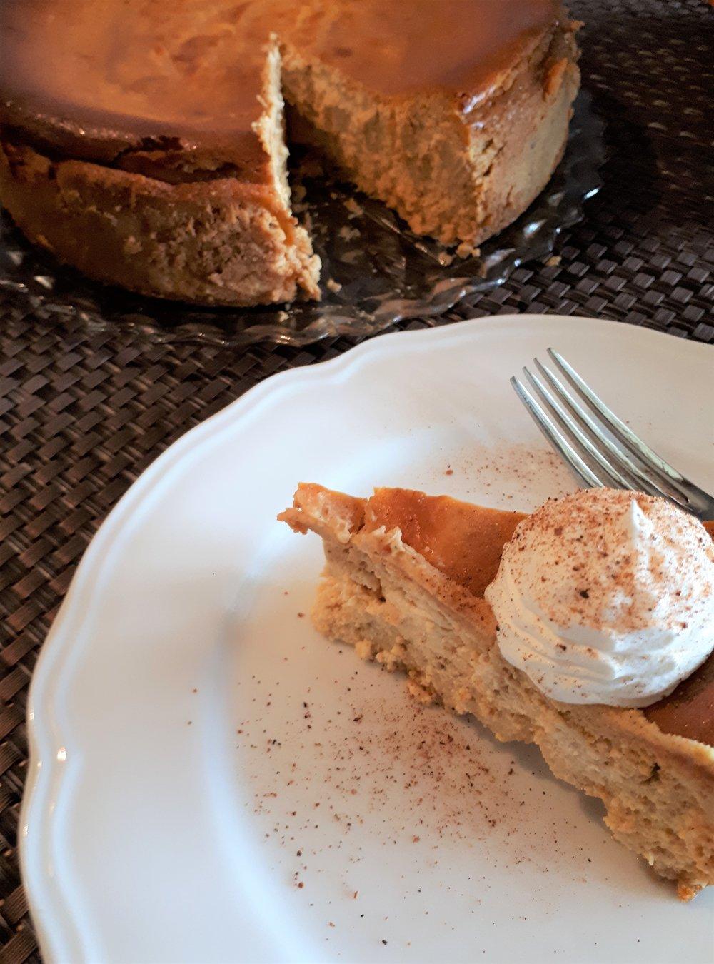pumpkin cheesecake slice from the cake.jpg
