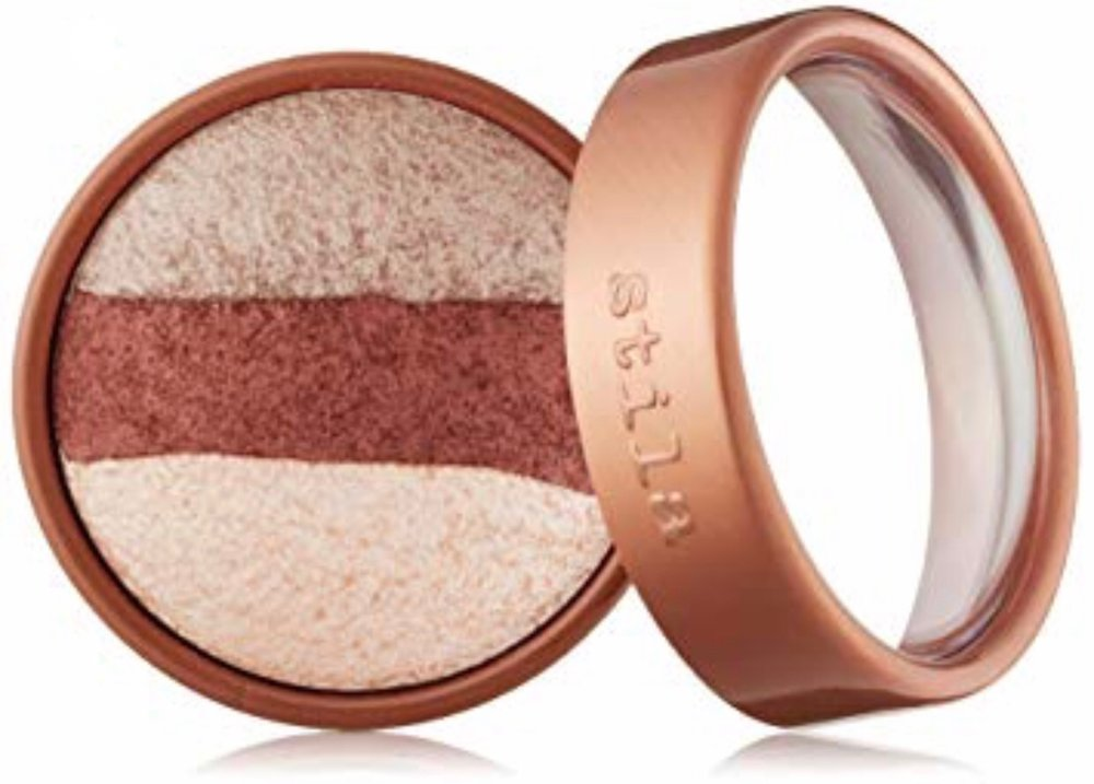 "- Stila Cosmetics Baked Trio Eyeshadow ""Rose Gold"" applied wet"
