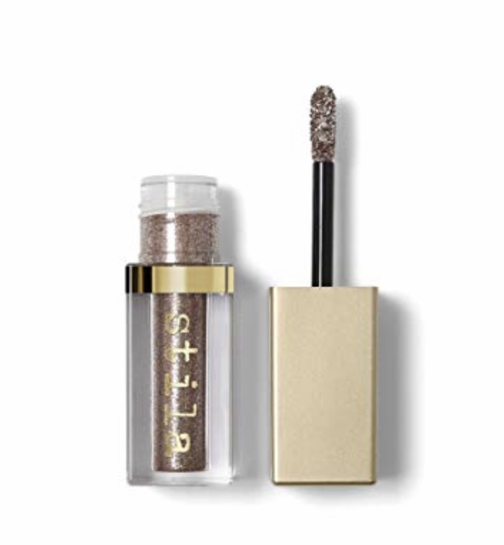 "- Stila Cosmetics Magnificent Metals Liquid Eyeshadow ""Smoldering Satin"" - a touch on the lids"