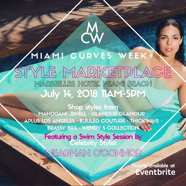 Get your tickets today for our Style Marketplace! More vendors than ever!! Shop amazing brands like @mahoganijenell @thick_wave @glamourglamour_swimwear @thewendyscollection @brassybra @apluslosangeles @bjuledcouture The largest Curvy Swim event to hit Miami!  #swimweek #miamievents #bringingcurvestothebeach