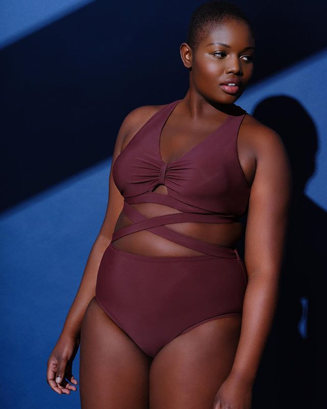 #JustDroppedSeries @eloquii has released its first of many collections to come this season. Check out their signature styles in great new colors like cocoa, olive and navy. #xoq #swim #plussizeswimwear