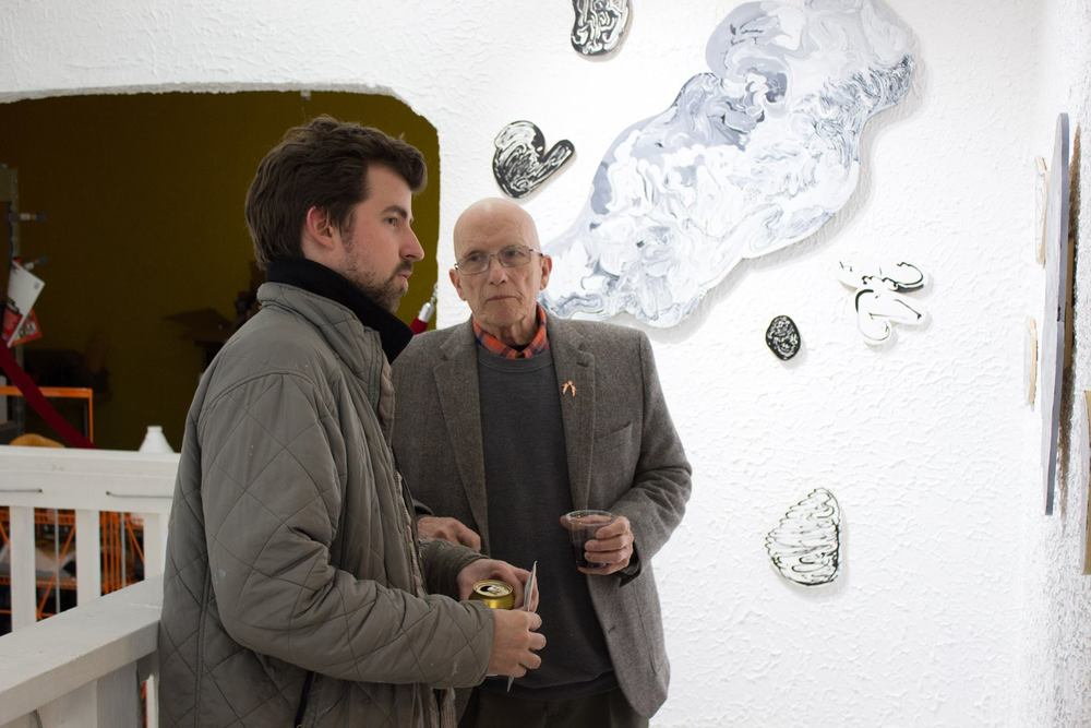Ben Bradshaw and his grandfather at RECURSIVE IDLE, March 2016.