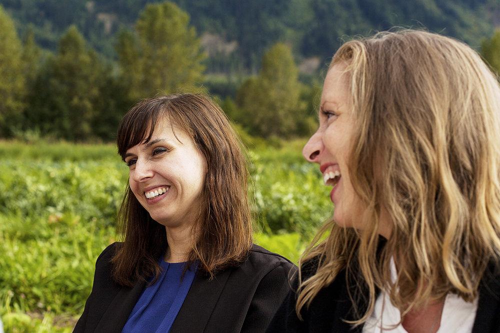 Figure 1's Jess Sullivan and Natalie Olsen.