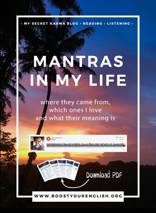 Episode 1: My Secret Karma Blog / Mantras in My Life — Boost your