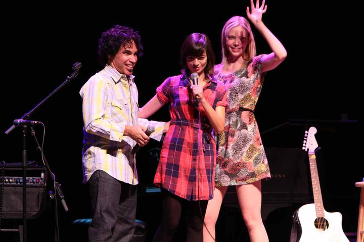 By the way... which one's Oates? G&O&O! John Oates, Kate Micucci and Riki Lindhome at The 7908 Aspen Songwriters Festival!