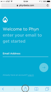 1. In SAFARI, go to phynbeta.com,click on the share icon