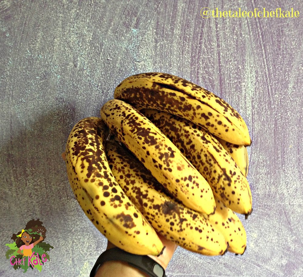 The freckles on this banana tells us that they're ripe and ready for digestion!