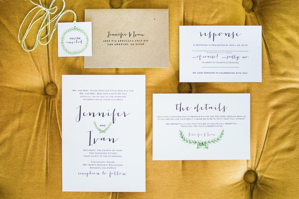 simple, elegant wedding invitations.